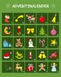 Adventskalender mit Türchen und Zahlen