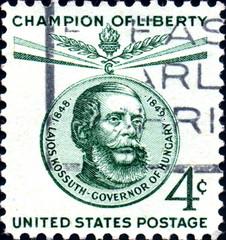 Lajos Kossuth. Governor of Hungary. US Postage.