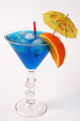 Blue alcohol cocktail