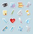 Sticker icons for science and education