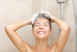 Woman in shower washing hair - 36702058