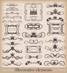 Vector set. Vintage Design Elements for your design. Calligraphy