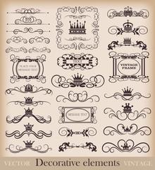 Vector set. Vintage Design Elements for your design.Calligraphy