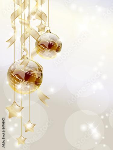 Sfondo natalizio dorato - Golden Christmas background
