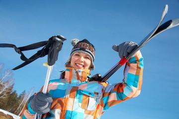 woman - skier