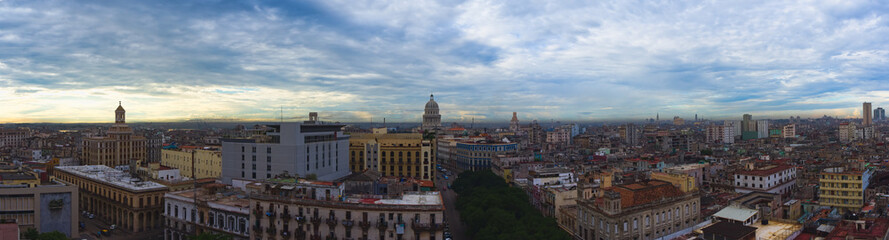 Havana, Cuba. Panorama with Capitol in center