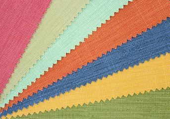 Multicolor tone of fabric texture sample