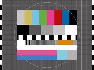 TV Testbild Empfangsstörungen 1