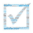 SERVICE-QUALITY-SATISFACTION Tag Cloud (customer tick marketing)
