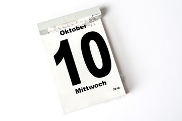 10. Oktober 2012