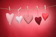 Herzen auf der Leine