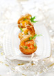 Prawn salad in mini-brioche for holiday