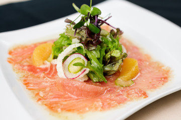 Trout carpaccio