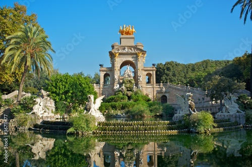Fountain in a Parc de la Ciutadella, Barcelona - 36711477