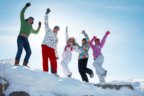 Party on winter vacation