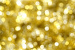 Abstract gold Christmas light background