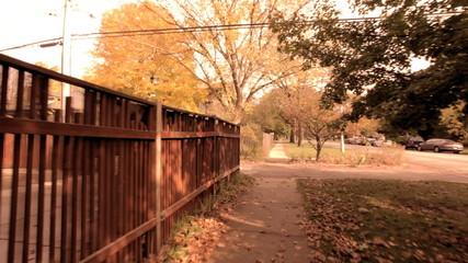 Fence and Sidewalk