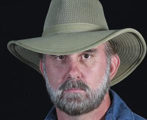 A Bearded Man in a Safari Hat