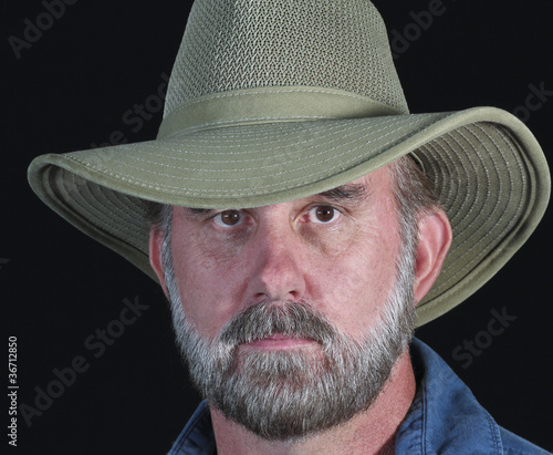 A Bearded Man in a Safari Hat