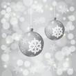 Weihnachtlicher Hintergrund mit zwei Kugeln