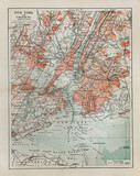 Fototapety New York old map