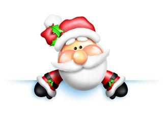 Gumdrop Santa Over Edge