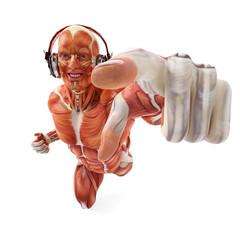 dj muscle man ready to press play