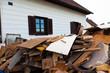 Räumung eines Wohnhauses