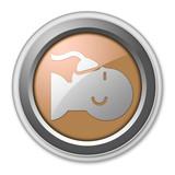 Bronze 3D Style Button