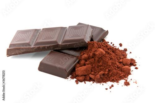 Schokolade mit Schokopulver