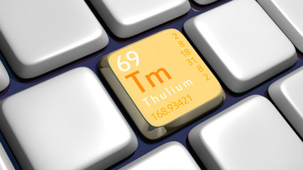 Keyboard (detail) with Thulium element