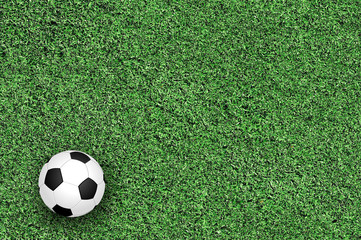 Soccer ball on green grass
