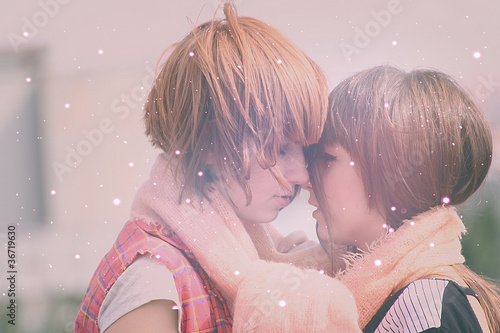Two wonderful girls, Yoshiko a