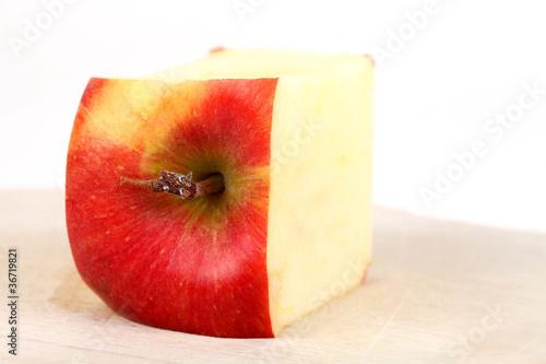 Eckiger Apfel