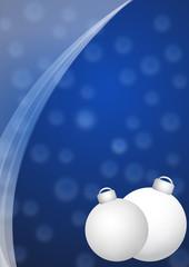 sfondo natale blu con palline bianche
