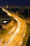 Trasa WZ w Warszawie nocą - 36721411