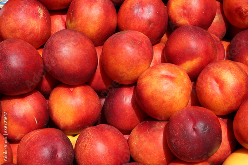 Nectarines at a market