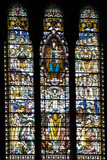 The mosaic window in basilique Notre Dame de Fourviere, Lyon, Fr