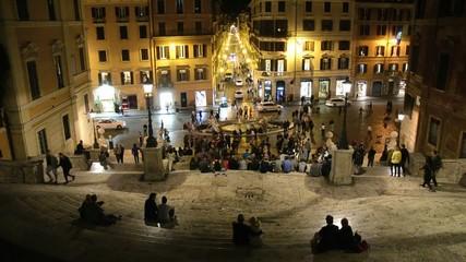 Scalinata di Piazza di Spagna, time lapse, Roma
