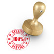 100% Service - Stempel