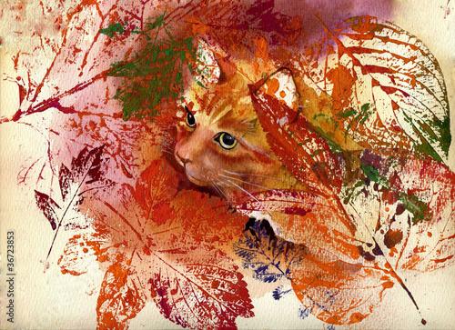 Kolekcja malarstwa: Kot Jesień