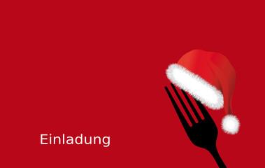 Einladungskarte zum Weihnachtsessen