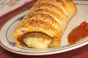 Italian Sausage and Mozzarella Stromboli Roll