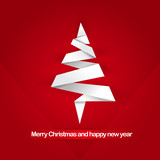 Abstract vector background with Christmas tree