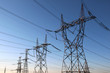 high voltage electrical towers in line - 36725058