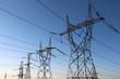 Leinwandbild Motiv high voltage electrical towers in line