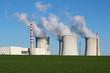 nuclear power plant in green field
