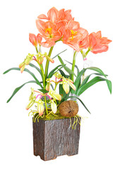 Artificial Orange flower arrangement