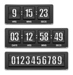 Vector countdown timer. Under construction sign board.