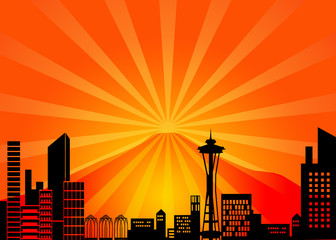 Seattle Washington City Skyline